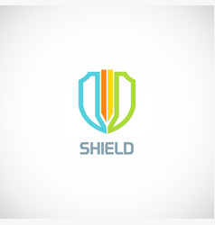 shield protect colorful logo vector image