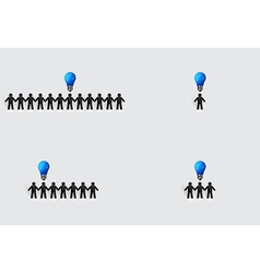 Social Network concept People cut out of paper vector image vector image