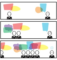 Speech Bubble Communication With Businessman In vector image