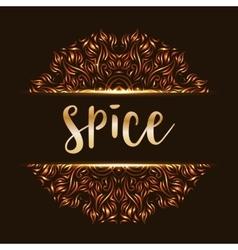 Spice shop logotype mandala vector image