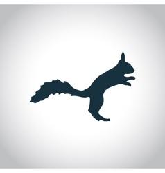 Squirrel simple icon vector image