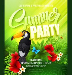 Summer party Template poster vector