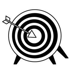 target and arrow on white background vector image