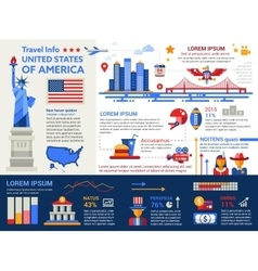 USA Travel Info - poster brochure cover template vector
