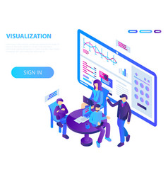 visualization conference concept background vector image