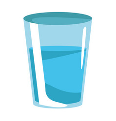 Water glass cup vector