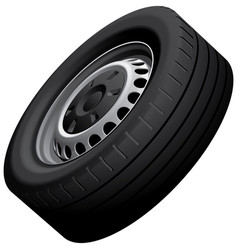 Wheels isolated on white vector