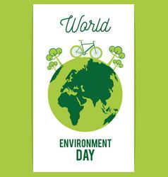 World environment day vector