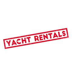 Yacht rentals rubber stamp vector