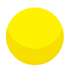 yellow candy ball icon isometric style vector image