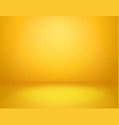 Yellow studio background empty vivid yellow vector