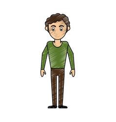young man avatar cartoon vector image