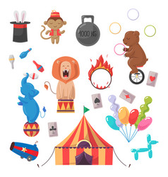 Amazing circus show set vector