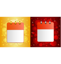 blank sheet of calendar on festive background vector image vector image