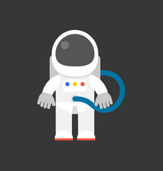 cute character of astronaut flat design icon vector image vector image