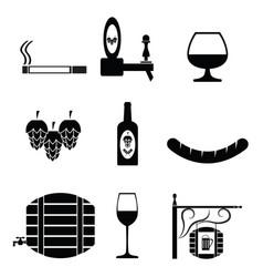 pub icon set vector image
