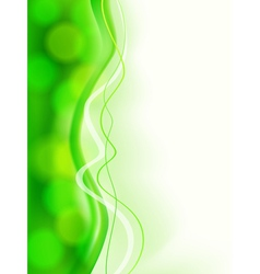 Abstract green soft focus card vector image
