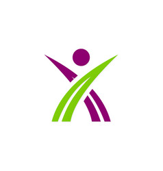 people leader sport business logo vector image