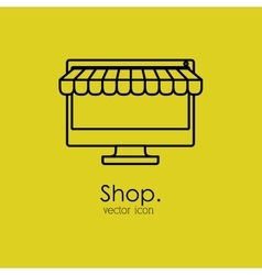 shop isolated icon design vector image