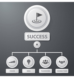 Success business infographics vector image vector image