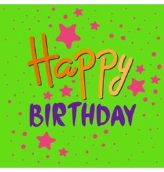 Beautiful happy birthday invitation cards vector