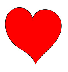 hand draw asymmetric heart vector image vector image