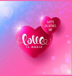 hearts love vector image vector image