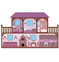 House in a cut vector image vector image