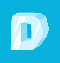 letter d ice font icicles alphabet freeze vector image vector image