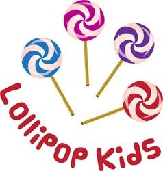 Lollipop Kids vector image
