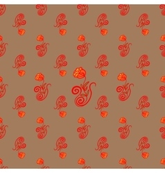 Rose bright ornament vector image