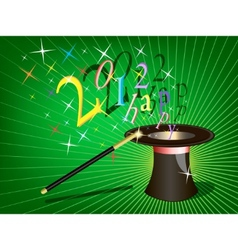 2012 holiday background vector image
