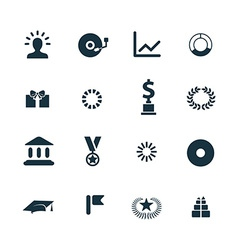 award icons set vector image vector image