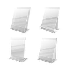 business information transparent plexiglass empty vector image