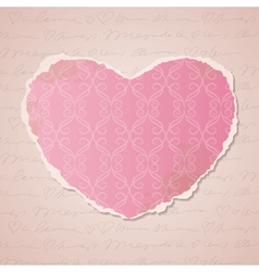 heart of paper vector image