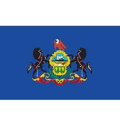 Pennsylvania flag vector image vector image