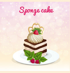 sponge cake vector image