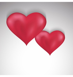 Stylish Valentines Day background with two hearts vector image vector image