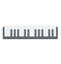 Top view of piano keyboard vector image