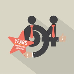 64th Years Anniversary Typography Design vector