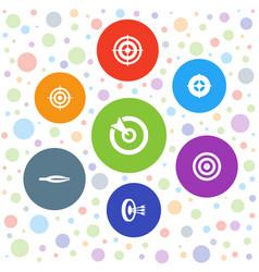 7 accuracy icons vector