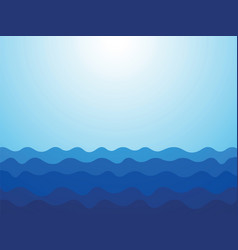 abstract blue waves ocean background vector image