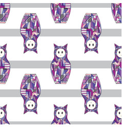 Abstract girls seamless pattern cat vector