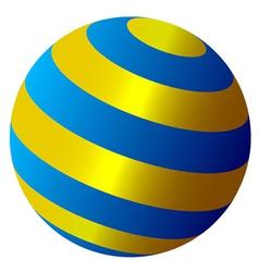 abstract globe vector image