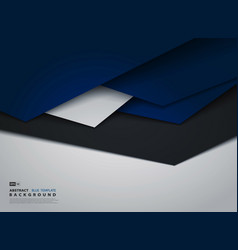 abstract tech gradient blue overlap business vector image