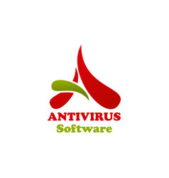 antivirus software icon vector image