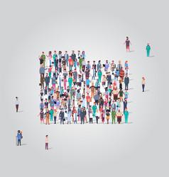 big people group standing together in folder vector image