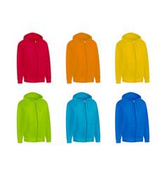 blank color mens hoodie sweatshirt long sleeve vector image