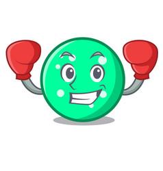 boxing circle character cartoon style vector image