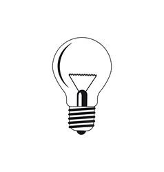 Bulb silhouettes vector
